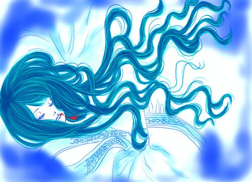 青蛇女死掉變藍的