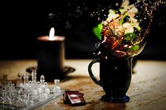 (Buck Rivard) Tags: winter coffee canon studio candle chocolate chess 85mm calm 5d splash f18