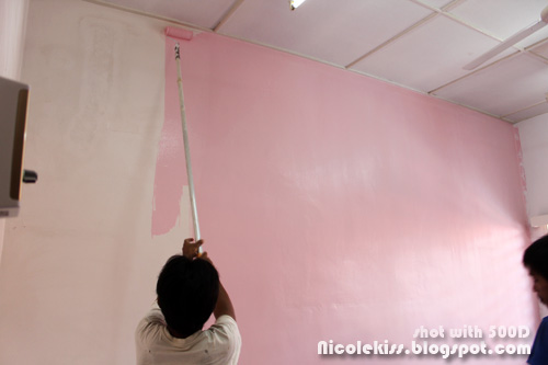 painting pink