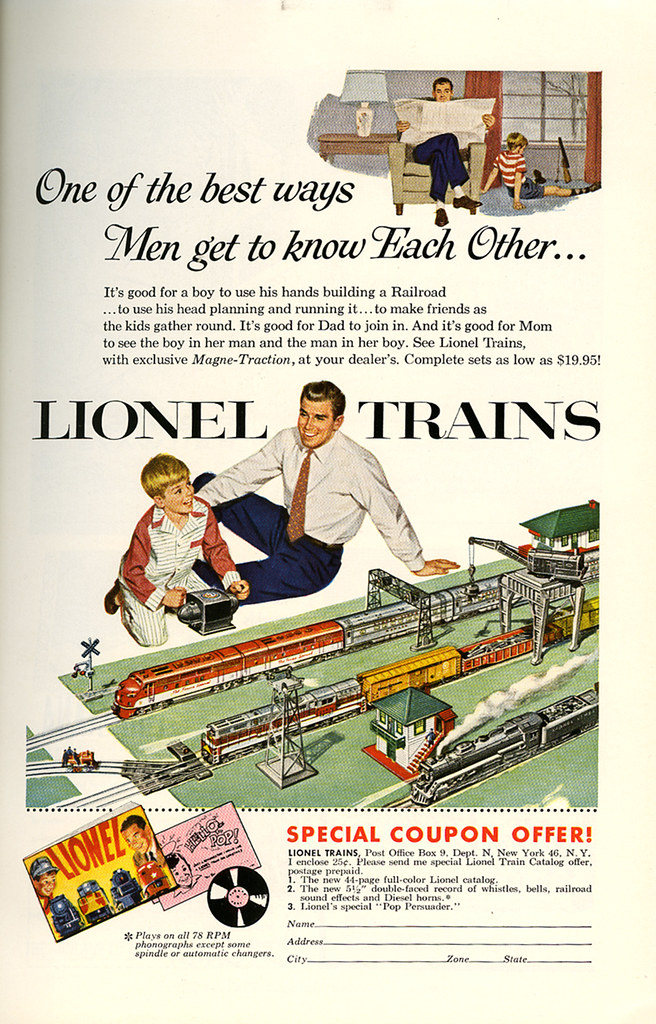 Lionel train ad_December 1954_tatteredandlost