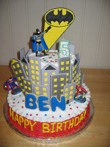Cake Birthday Superhero