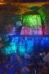 109b - Albion Falls with night lights (Joseph Hollick) Tags: waterfall nightlights hamilton nightphoto spotlights hwg colouredlights albionfalls hamiltonwaterfalls waterfallatnight