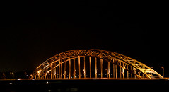 Waalbrug by Night (Klaas de Leeuw) Tags: by night nijmegen gelderland waalbrug nachtopname