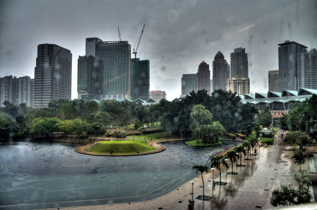 KLCC park rainy day