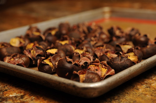 Chestnuts roasting in a Hot, Hot Oven