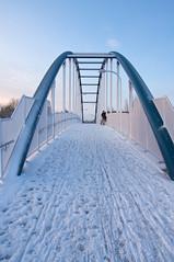 Snow Bridge (.mushi_king) Tags: bridge winter cambridge snow weather unitedkingdom cycle milton a14
