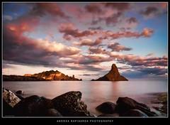 Tramonto surreale (Andrea Rapisarda) Tags: longexposure travel sunset sea italy seascape tourism clouds landscape geotagg