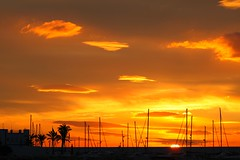 Sunrise 3 (Steve-h) Tags: sun clouds sunrise palms geotagged dawn spain masts marbella steveh canoneos500d platinumheartaward yachtingharbour imagesforthelittleprince geo:lat=36505965 geo:lon=4893094