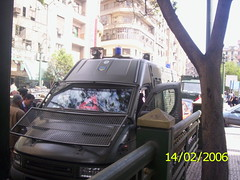 Egyptian New Police Riot Vehicle (MS4d) Tags: street public car riot force egypt police security cairo egyptian vehicle van swat iveco