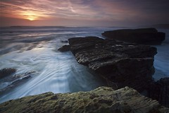 Hole In the Wall Beach #2 - Davenport, California, USA (Rich Capture) Tags: california longexposure sunset sky usa color beach beautiful rock clouds canon eos sand tripod richard lowtide davenport gitzo formations tms holeinthewall roughseas tellmeastory topseven platinumphoto g1178m theunforgettablepictures ef1635mmf28lii 5dmark2 richardmatyskiewicz matyskiewicz g026 topsevengallery
