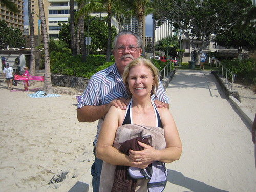 Congrats to Jane Harned (with her husband Bill) for being baptized on January 3, 2010 in Waikiki