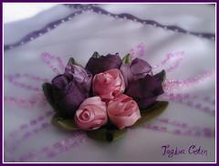 Gl goncalar ~ Ribbon embroidery (~Tuuba~) Tags: pink light rose purple embroidery ribbon bundle seta soie seda ruban bordado stickerei seiden nastro  kordel listn mywinners   brodeire  ricarno