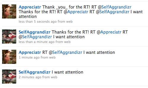 Recursive Retweeting