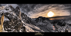 Vallée Chamonix Mont Blanc Panorama HDR (Feo David) Tags: sunset sky panorama mountain france mountains clouds montagne alpes view savoie chamonix mont blanc hdr haute