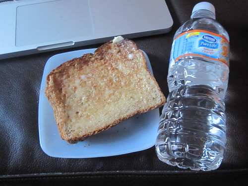 Toast, orange water