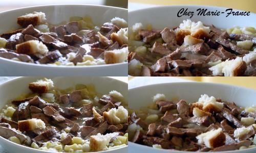 soupe légumes et foie de veau