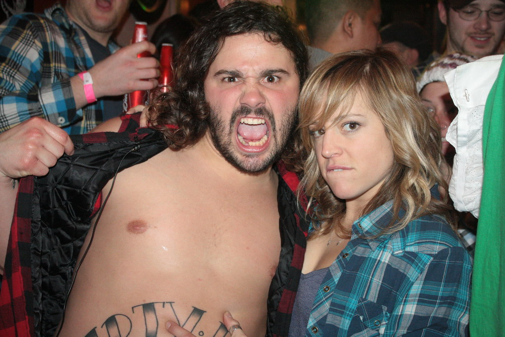 Jenny Jones and new found friend, Dirty from MTV