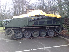 Tracked radio vehicle/ armoured personnel carrier