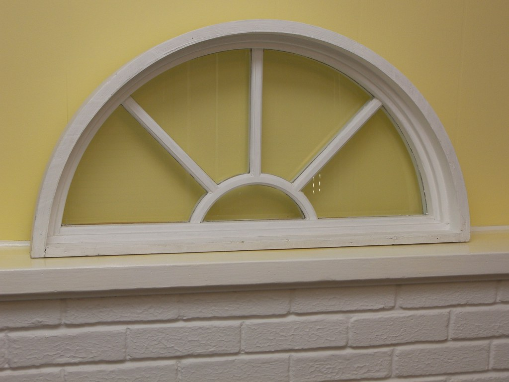 Vintage White Shabby Chic Repurposed Fan Window