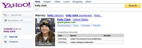 Search for your favorite Winter Games athlete on Yahoo! Search