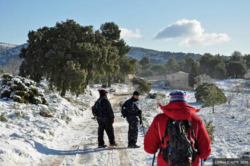 Menejador con nieve - Montañas de Alicante