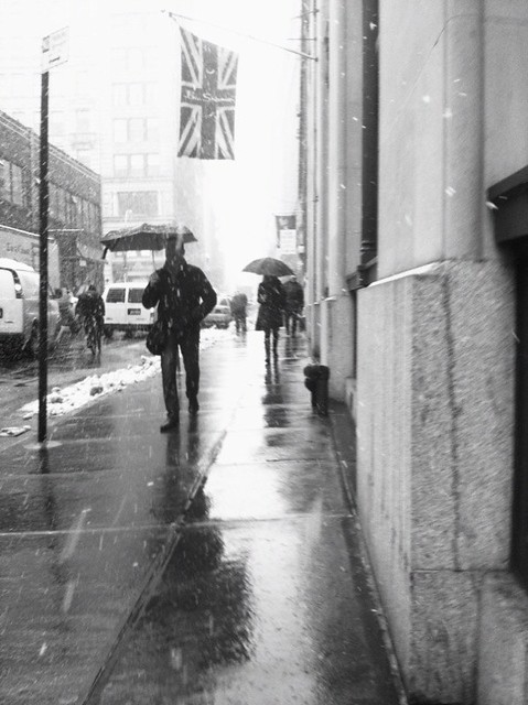 umbrella people #walkingtoworktoday in soho