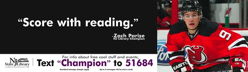 NJ Library Champion Zach Parise
