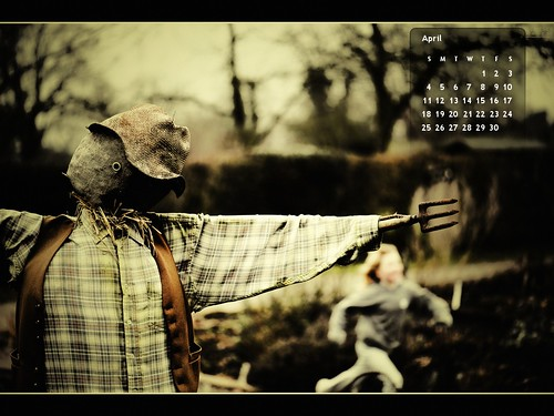 Wallpaper Calendar April 2010 Free Desktop Background por Ian Livesey.