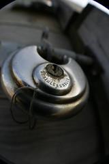 stainless steel (Curtis Bartlett) Tags: uk england canon eos kent stainlesssteel lock fisheye padlock whitstable 400d