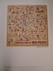CARTOON MAP OF NEW MEXICO (Mumu X) Tags: new usa vintage mexico map postcard reprint