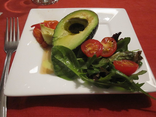 Avocado and salad