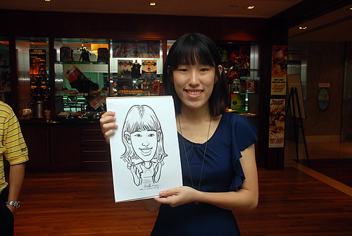 Caricature live sketching for M Hotel - 5
