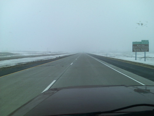 A great fog came upon is in the highlands of South Dakota.