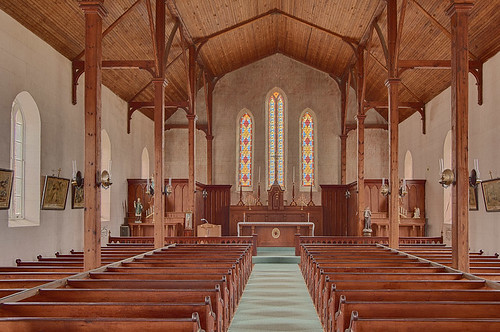Saint Patrick Roman Catholic Mission, in Armagh, Missouri, USA - nave