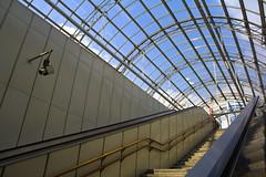 Glass (&li) Tags: vienna wien city people urban glass architecture geotagged sterreich gente metro tram ticket scala stazione biglietto viaggio architettura citycentre citt vetro scalamobile struttura pendolare mezzoditrasporto