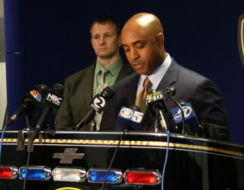 Oakland Police Chief Anthony Batts at press conference releasing findings of report on March 21, 2009 shootout