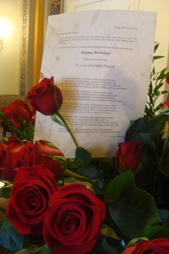 Birthday Note With Roses