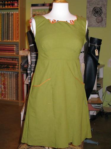 shellys dress in green