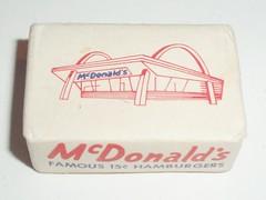 SUGAR CUBE MCDONALD'S #2 (ussiwojima) Tags: advertising restaurant mcdonalds sugar hamburger cube 50s
