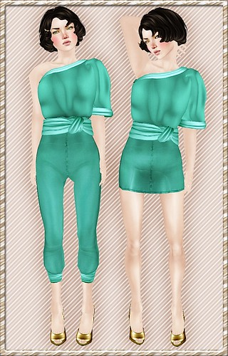 Jump her skirt-tapered seafoam