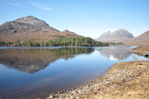 Sgurr Dubh and Liathach across Loch Clair