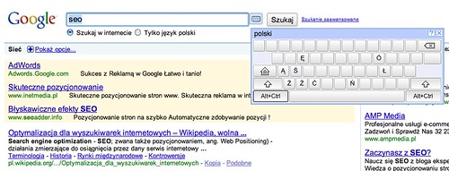 Virtual Keyboard in Google