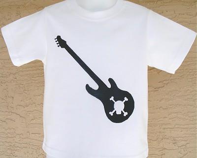 guitar skull shirt