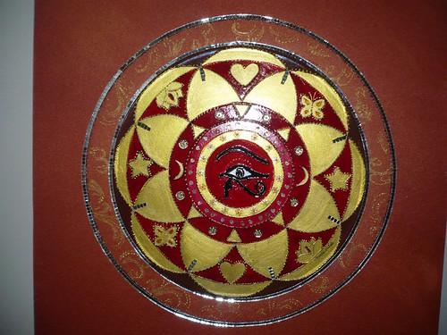Mandala Olho de Hórus em Tela Bronze-Vendida by marta.falcao