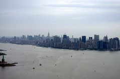 New York Helicopter Tour 10 (david_shankbone) Tags: newyorkcity newyork skyline skyscrapers manhattan images photographs rivers creativecommons eastriver hudsonriver statueofliberty helicopters wallstreet lowermanhattan helipad heliport helicoptertour pier40 2011 libertytours bydavidshankbone