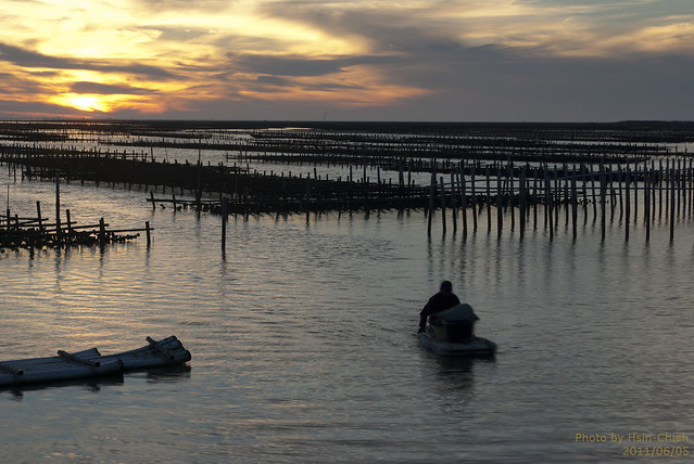 20110605-七股海堤落日