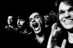Villette Sonique (Ronan THENADEY) Tags: light portrait blackandwhite bw paris public festival rock contrast canon 50mm interestingness noiretblanc expression band explore noise rappel thefall cri shout ambiance festivalier f12l villettesonique ronanthenadey 5dmarkii