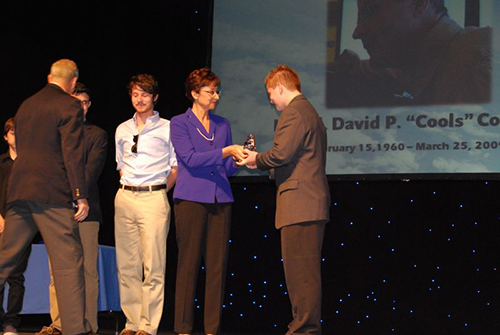 """David P. """"Cools"""" Scholarship presented by Mrs. Cooley"""