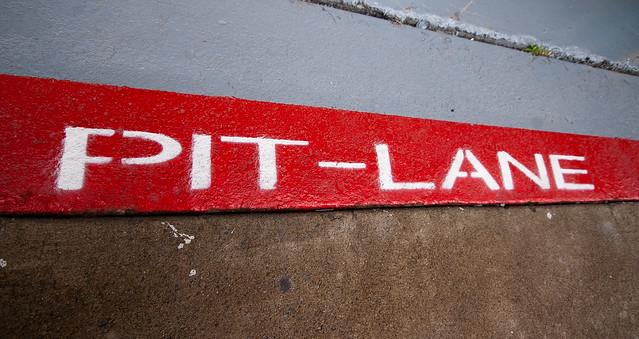 Pit-lane open