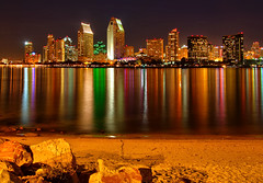 San Diego Skyline Reflections -  #7 Explored 6/20/2011 (Dave Toussaint (www.photographersnature.com)) Tags: ocean california ca city travel light sky usa reflection building nature water skyline marina photoshop canon landscape island harbor photo seaside interestingness interesting photographer waterfront pacific sandiego cs2 streak january picture beam explore reflect adobe embarcadero highrise southerncalifornia coronado hdr centennialpark adjust infocus 2011 denoise 40d topazlabs photosandcalendar platinumheartaward worldwidelandscapes thebestofmimamorsgroups photographersnaturecom davetoussaint photoengine ringexcellence dblringexcellence tplringexcellence oloneo aboveandbeyondlevel1 eltringexcellence